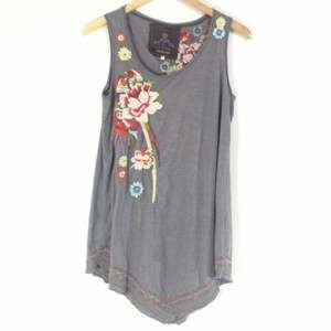 Johnny Was JW Embroidered Top Sleeveless Floral
